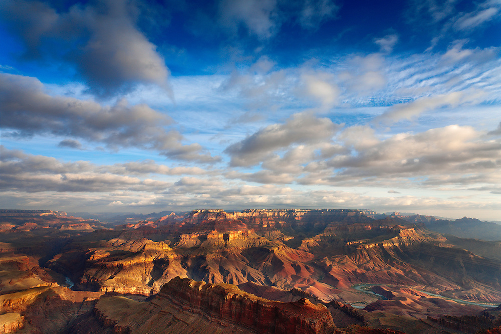 Early morning on the Grand Canyon and Colorado River.