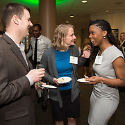 Ashleigh Kennedy, second from right, Stell D. Patadji. Class of 2013 dinner.