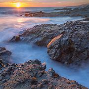 Victoria Beach Crack - Sunset - Laguna Beach CA