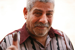 """I'm happy, it's the first time I ever voted. I don't know how to describe it. God willing, it'll be good for Egypt. I voted for Ahmed Shafiq."" - Assaf Saad Assaf, 62"
