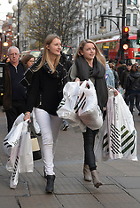 DEC 16 2014  Christmas Shoppers on Oxford Street