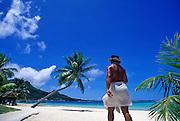 Image of the beach on Bora Bora, Tahiti, French Polynesia