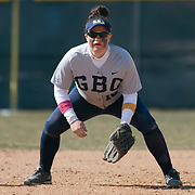 Goldey-Beacom infielder Marissa Berry (10) takes her position near third base fourth inning of a NCAA Central Atlantic Collegiate Conference game against Post University Saturday, March 30, 2013, at Nancy Churchmann Sawin Athletic Field in Wilmington Delaware.
