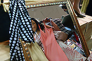 """London, the author of the best seller """"I love shopping""""  Sophie Kinsella shopping in Oxford Street at Topshop store"""
