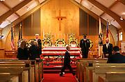 Alaska Senator Ted Stevens funeral in Anchorage, Alaska. 2010