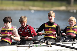 2012.02.25 Reading University Head 2012. The River Thames. Division 1. Shiplake College Boat Club C J15A 8+
