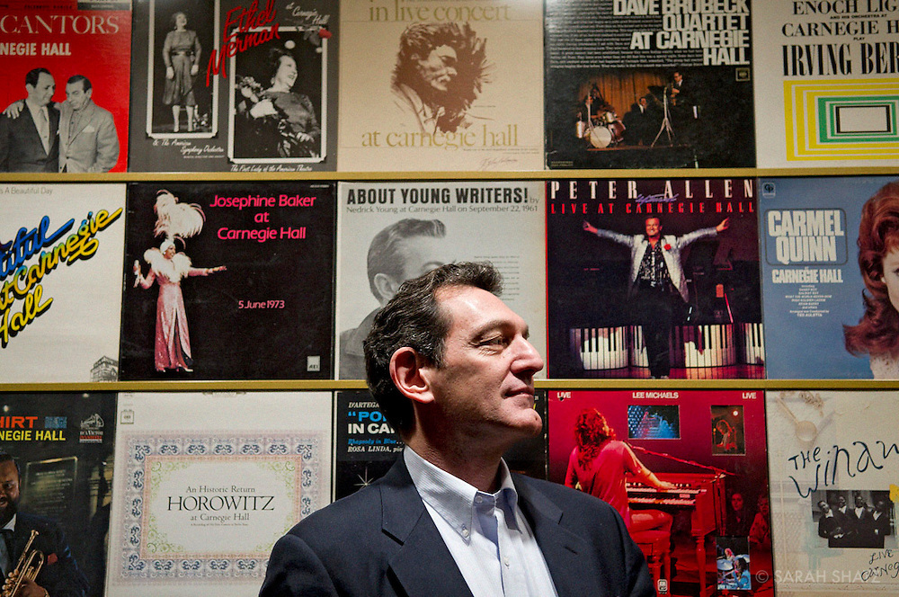 Gino Francesconi, archivist, Carnegie Hall