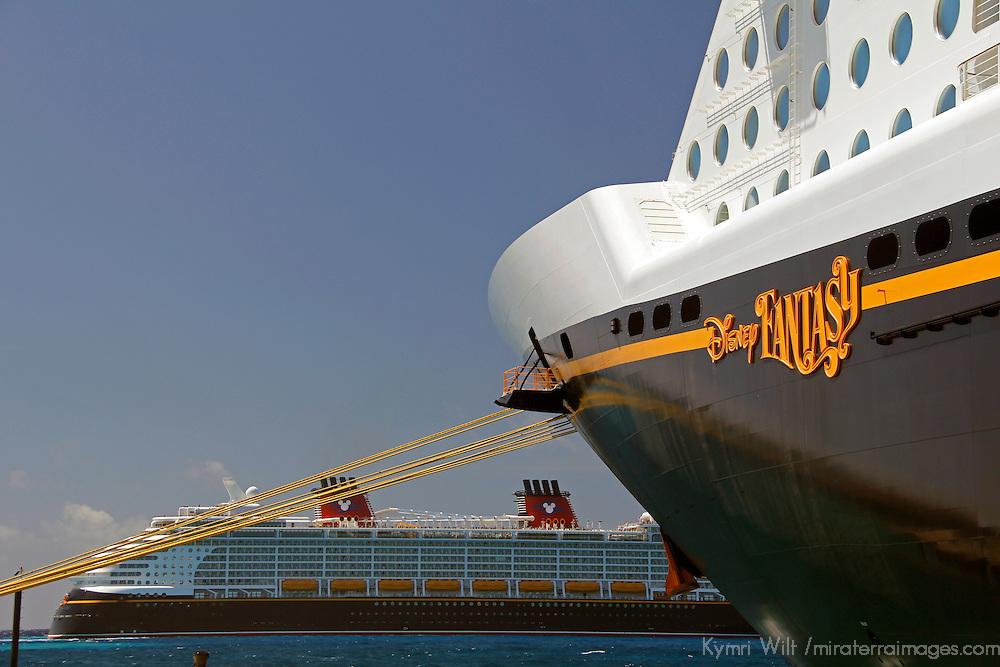 Disney Fantasy Cruiseship with Disney Wonder