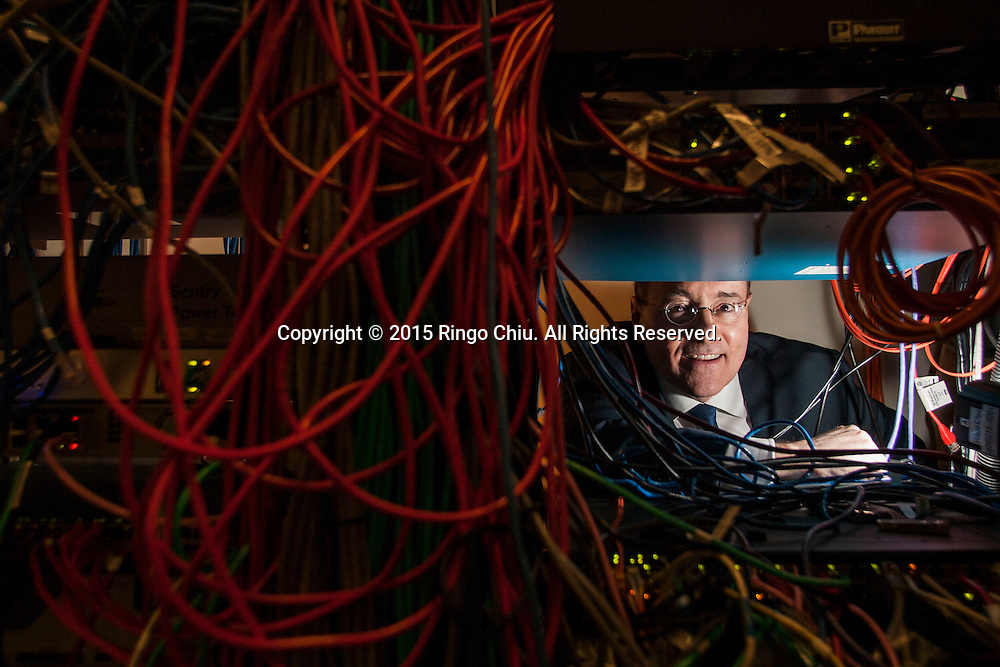 Attorney Michael Gold, in data-security room at Jeffer Mangels Butler & Mitchell LLP.(Photo by Ringo Chiu/PHOTOFORMULA.com)