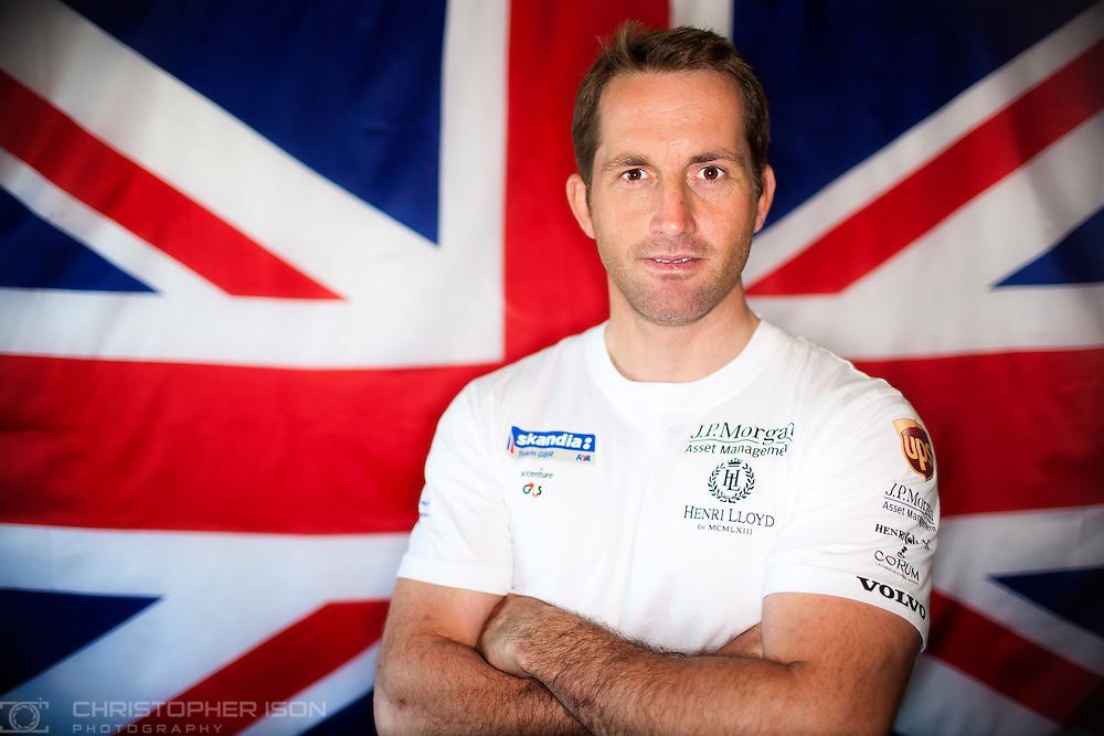 Finn sailor, Sir Ben Ainslie, photographed ahead of the London 2012 Olympics.