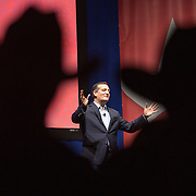 Republican presidential candidate Sen. Ted Cruz, R-Tex., speaks Saturday, Dec. 5, 2015, during the Rising Tide Summit at the US Cellular Center in Cedar Rapids, Iowa. (AP Photo/Scott Morgan)