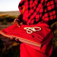 Maasai Warrior training at Bush adventures in Kenya.
