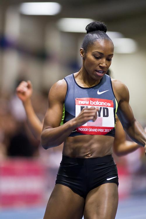 New Balance Indoor Grand Prix track meet: Women's 400 meters, Ebonie Floyd wins