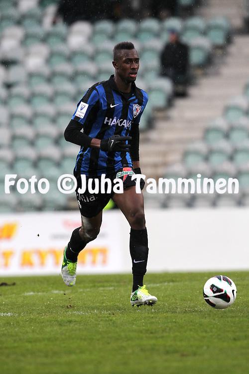 29.4.2013, Veritas Stadion, Kupittaa, Turku..Veikkausliiga 2013..FC Inter Turku - FF Jaro..Babacar Diallo - Inter.