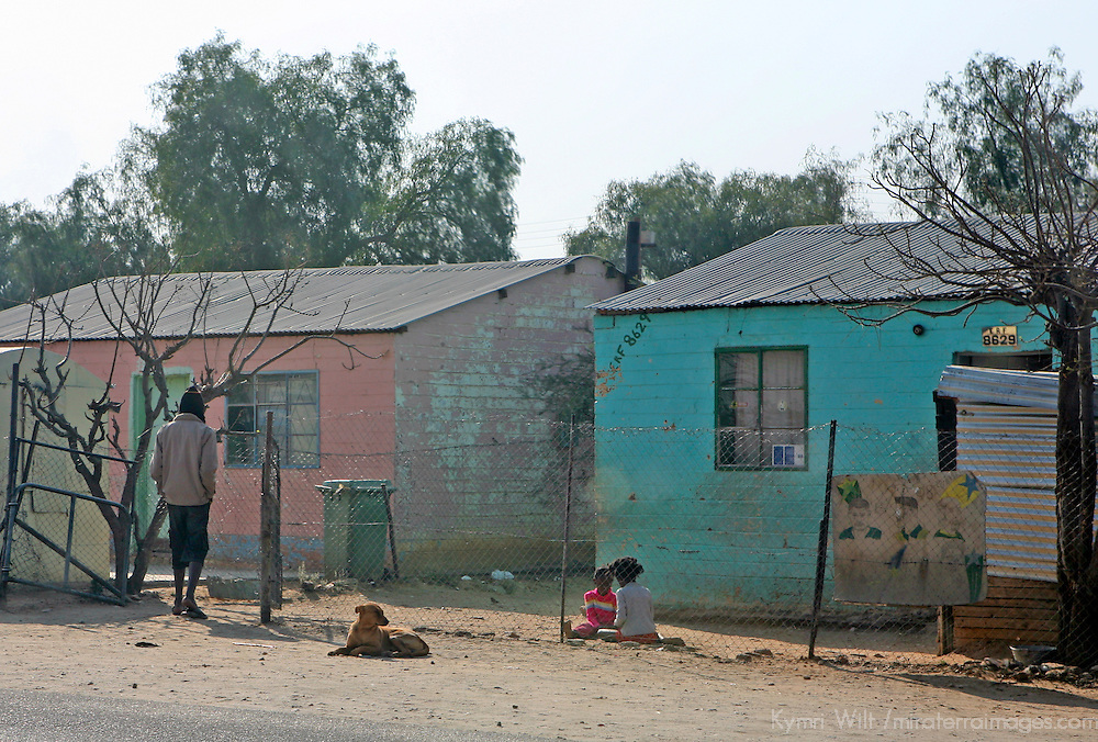 Africa, Namibia, Windhoek. A local street in the Katutura township of Windhoek.
