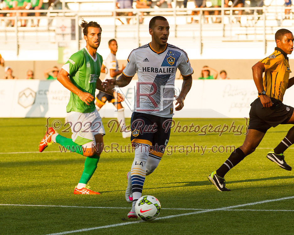 August 4, 2015: The OKC Energy FC plays the LA Galaxy II in a USL game at Taft Stadium in Oklahoma City, Oklahoma.