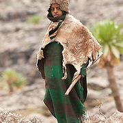 Child shepherd at Simien Mountains N.P., Ethiopia