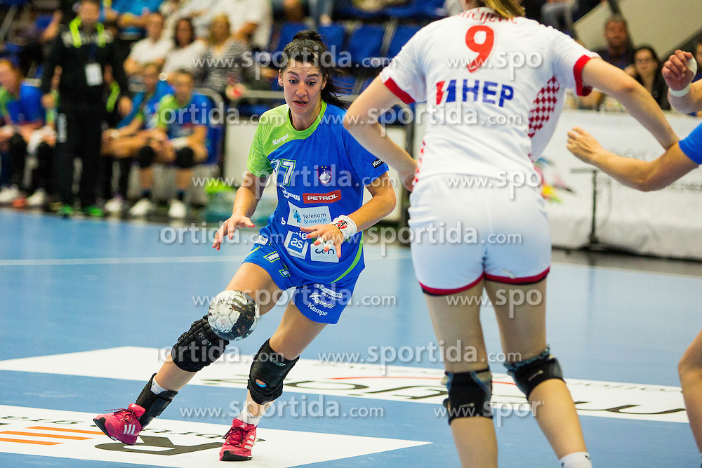 Maja Son of Slovenia during handball match between Women national teams of Slovenia and Croatia in Round #5 of Qualifications for Women's EHF EURO 2016 Championship in Sweden, on June 1, 2016 in Arena Golovec, Celje, Slovenia. Photo by Ziga Zupan / Sportida