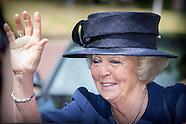 Prinses Beatrix der Nederlanden is zaterdagmiddag 27 juni aanwezig bij de viering van het zeventig j