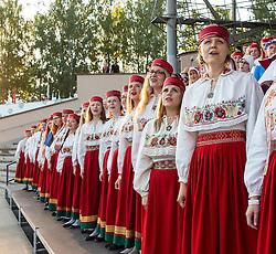 Song Festival 2014 in Tartu, Estonia. Choir singers in national dress.