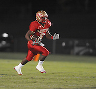 Lafayette High's Demarkous Dennis (5) catches a pass and runs for a touchdown vs. Pontotoc in Oxford, Miss. on Friday, September 23, 2011. Lafayette won 48-7 for the school's 22nd consecutive win.
