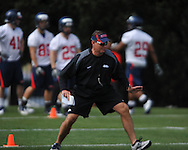Coach Tom Allen as Mississippi began spring practice in Oxford, Miss. on Friday, March 23, 2012. (AP Photo/Oxford Eagle, Bruce Newman)