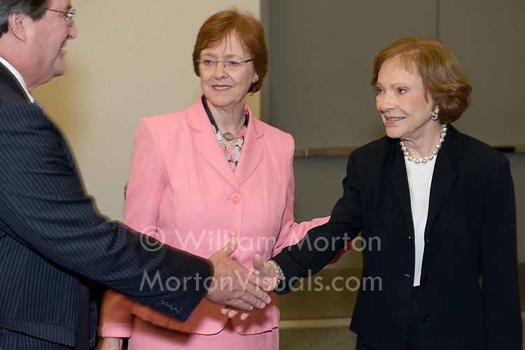 Former First Lady Rosalynn Carter greets APA Board members prior to the Opening Session at the San Diego Convention Center. Photography by Dallas event photographer William Morton of Morton Visuals event photography.