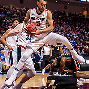 Gonzaga beat Pacific 82-50 on March 4 in the WCC Tournament in Las Vegas. (Photo by Zack Berlat)