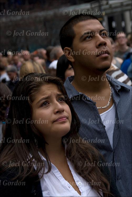 Hispanic Couple Names Hispanic Couple Looking up in