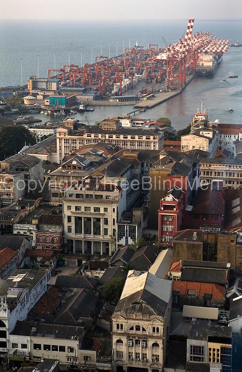 Harbor of Colombo, Skyline. Sri Lanka