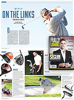 NHL player Dustin Penner featured in Fully Loaded Magazine playing golf.