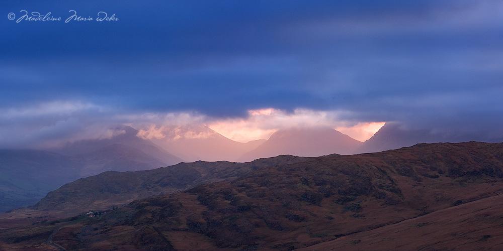 Kerry Highland Sunrise Panorama, County Kerry, Ireland / ba070