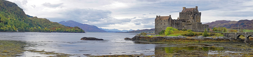 Eilean Donan is a small tidal island where three lochs meet, Loch Duich, Loch Long and Loch Alsh, in the western Highlands of Scotland. The castle was founded in the thirteenth century,