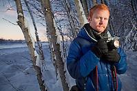 Photographer, Graham Thatcher, near Westchester Lagoon, Anchorage
