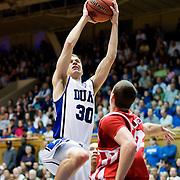 21 November 2009: Duke Senior guard #30 John Scheyer drives to the hoop for a score..Duke Rolls Past Radford 104-67 .Mandatory Credit: Mark Abbott / Southcreek Global