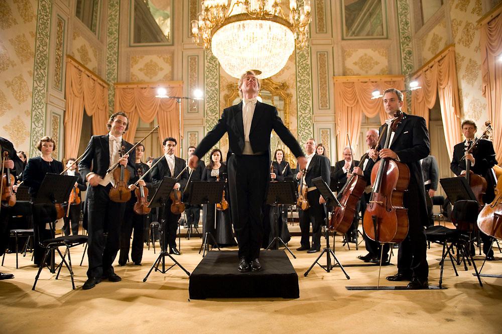Concert held by the Lisbon Metropolitan orchestra at Ajuda Nacional Palace in Lisbon. Concerto da OML no Palácio Nacional da Ajuda. Lisboa 2010