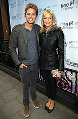 APR 22 2013 Newly weds Sam and Isabella Branson at We Day event in London