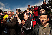 Visitors to President Boris Tadic's campaign stop in Golubac, Serbia...Matt Lutton for The Wall Street Journal..SERBELECT