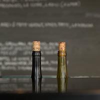 Bottles of red and white wine at Manfred's Copenhagen.