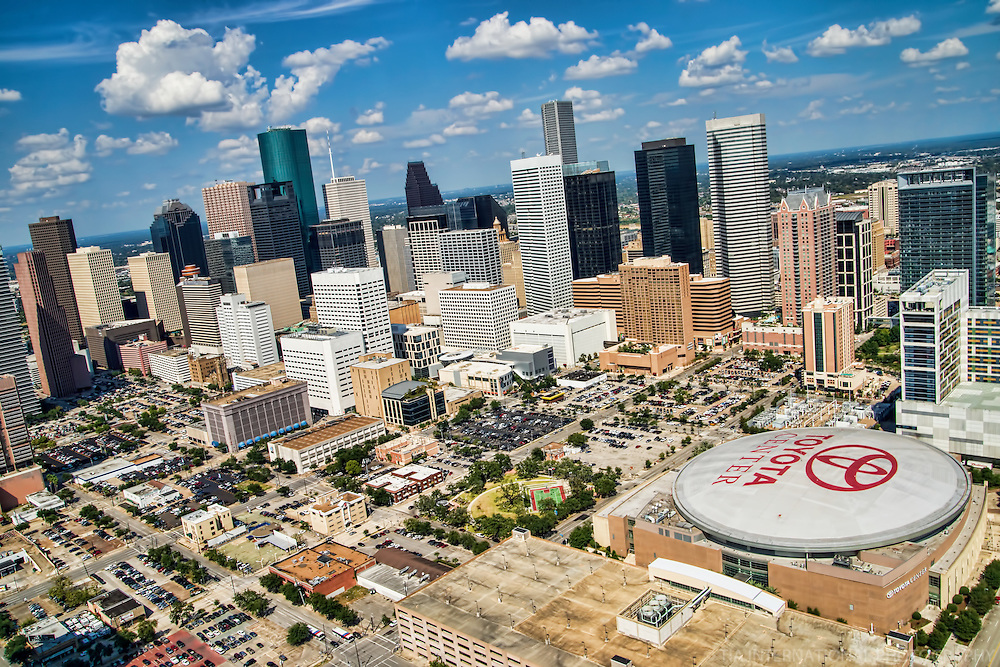 Downtown Houston & Toyota Center