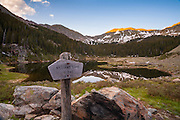 Williams Lake, high in the Wheeler Peak Wilderness near Taos, New Mexico.