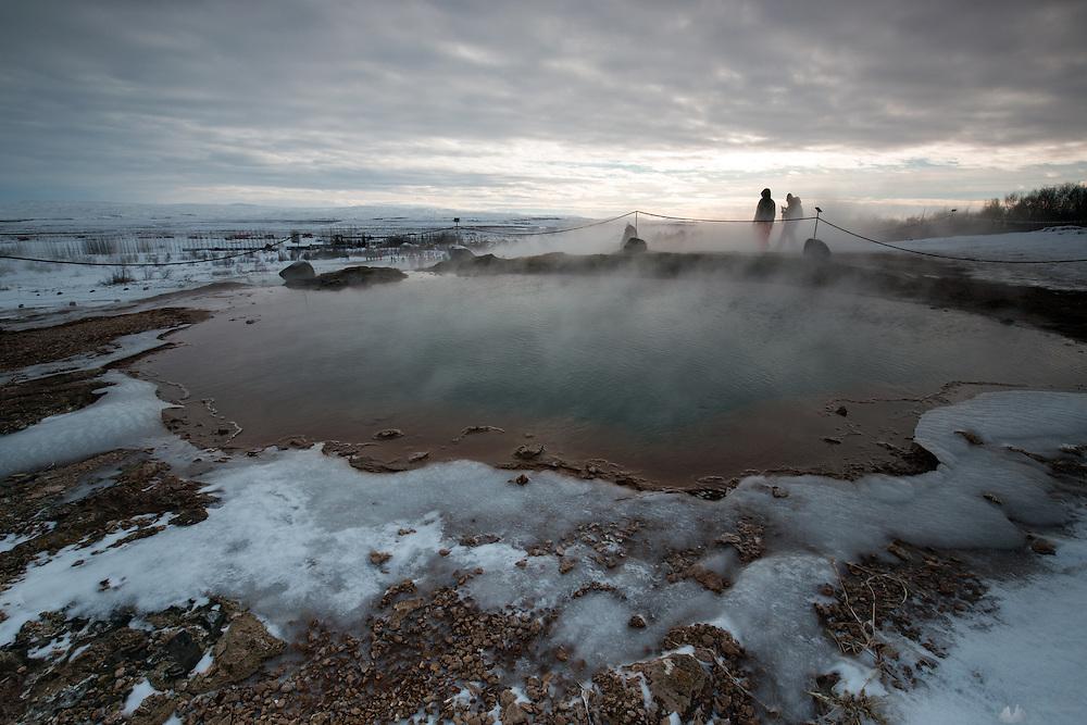 Large geothermal pool at Geysir