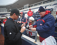Former Rebel Nathan Baker signs autographs at Ole Miss baseball alumni game at Oxford-University Stadium in Oxford, Miss. on Saturday, February 5, 2011.