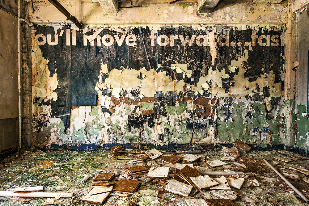 Abandoned Classroom in Chanute Air Force Base, in Rantoul Illinois.