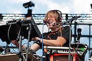 Robert DeLong performs at Bunbury Music Festival at Yeatman's Cove in Cincinnati, Ohio on July 13, 2013.