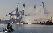 Dock Fire at Port of Los Angeles