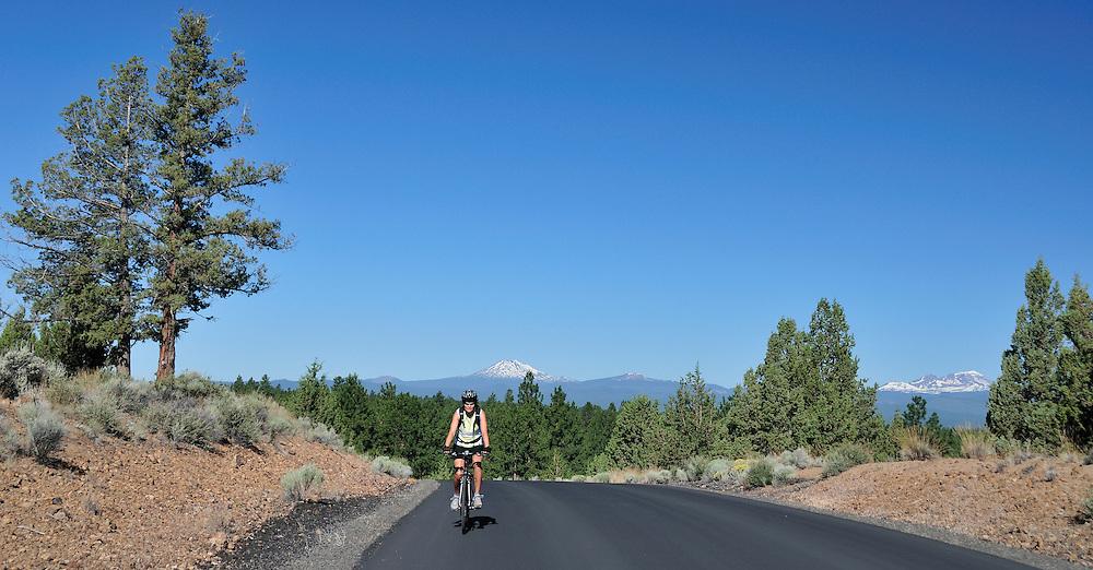 Biking,Cascade Mountains,Central Oregon,USA..