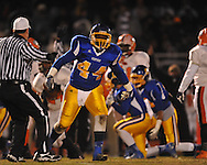 Oxford High's Jimmico Payne (44) vs. Jackson Callaway in a MHSAA North 5A playoff game in Oxford, Miss. on Friday, November 29, 2013. Oxford won 23-7 to advance to the Class 5A championship game against Picayune.
