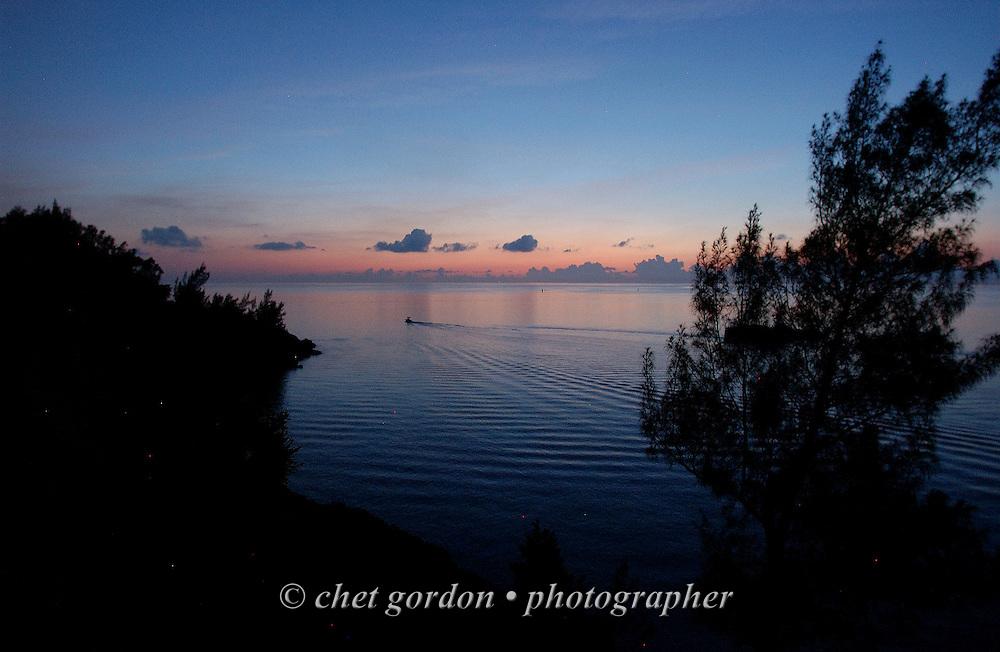 Sunset along the north shore in Bailey's Bay, Hamilton Parish, Bermuda on Tuesday, June 2, 2009.