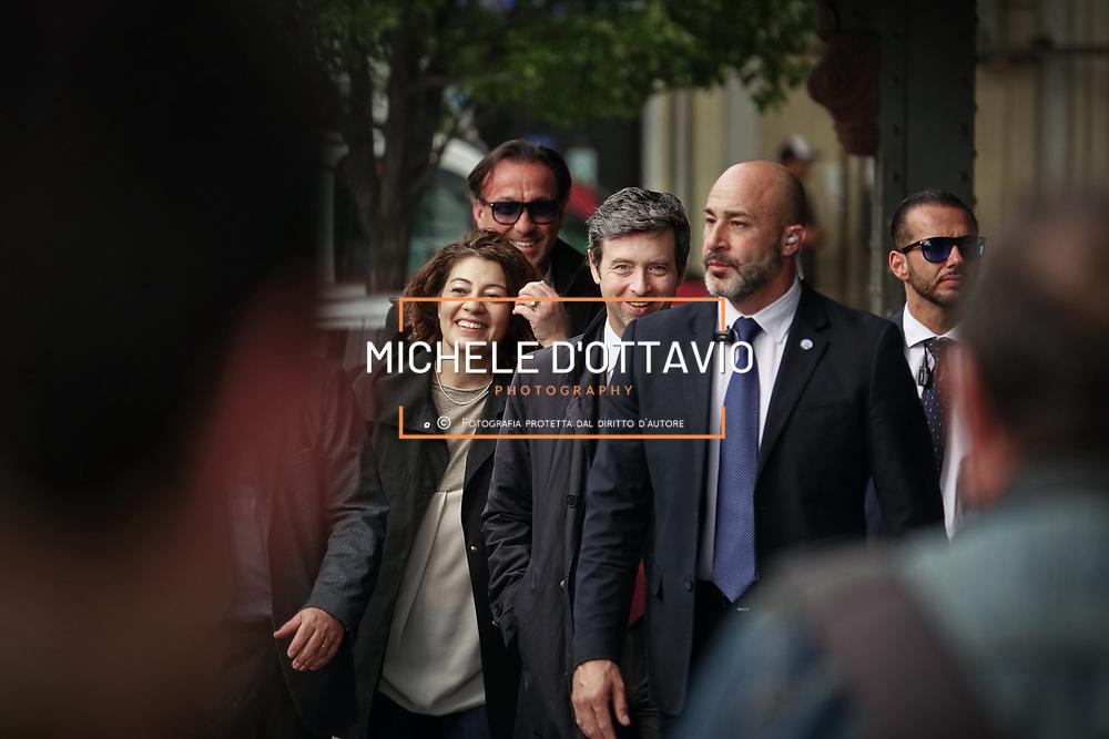 Andrea Orlando, candidato alla segreteria del Pd, per la campagna delle primarie Torino 28 aprile 2017